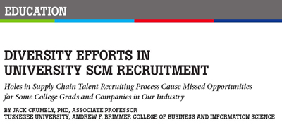EDUCATION: DIVERSITY EFFORTS IN UNIVERSITY SCM RECRUITMENT