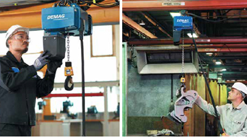 SAFER HANDLING: Electric Chain Hoists