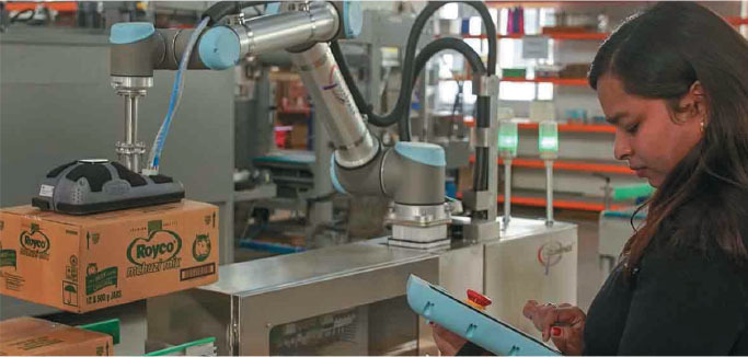 robot use can be incorporated for monotonous tasks that